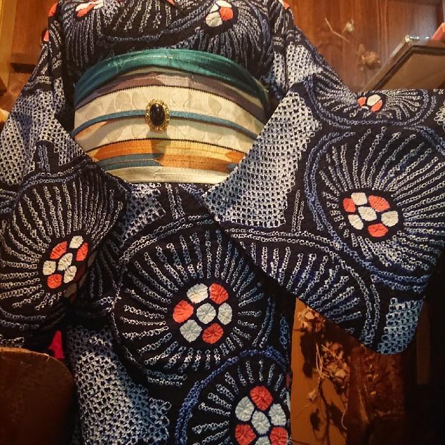 jay_k様有松絞り  粋な番傘 レディースの水着/浴衣(浴衣)の商品写真