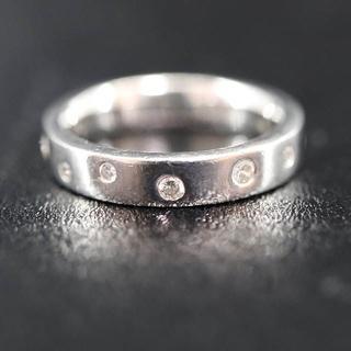 PT900 プラチナ 8ポイント ダイヤモンド リング 0.20ct(リング(指輪))