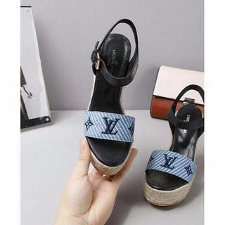 ルイヴィトン(LOUIS VUITTON)のLV LOUIS VUITTON サンダル 23cm 靴 シューズ(サンダル)