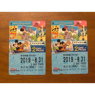 ディズニー(Disney)の【未使用】ディズニーリゾートライン☆2dayパス(その他)