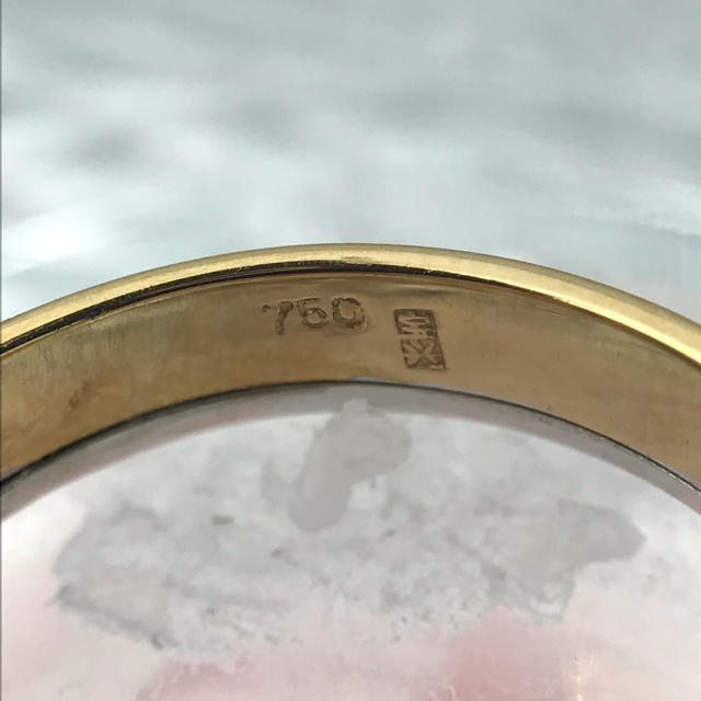K18WG ゴールド シンプル リング 19-1204 レディースのアクセサリー(リング(指輪))の商品写真