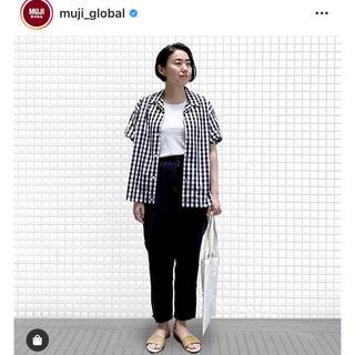 ムジルシリョウヒン(MUJI (無印良品))の無印良品 開襟シャツ サイズXS〜S(シャツ/ブラウス(半袖/袖なし))