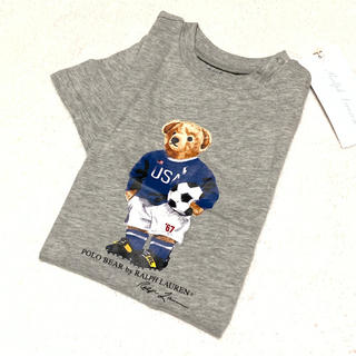 Ralph Lauren - 大人気☆新品 サッカーベアープリント コットンTシャツ 12M/80
