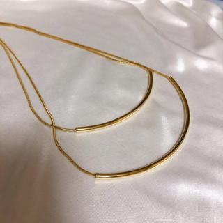 アメリヴィンテージ(Ameri VINTAGE)のゴールド 2連 ネックレス(ネックレス)