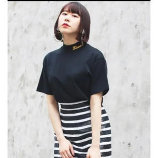 G.V.G.V. - 2018購入G.V.G.V. 襟ロゴ刺繍 ハイネック Tシャツ ブラック 黒