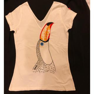 アッシュペーフランス(H.P.FRANCE)のH.P FRANCE 購入 NACH(ナッシュ) バード刺繍 Tシャツ (Tシャツ(半袖/袖なし))