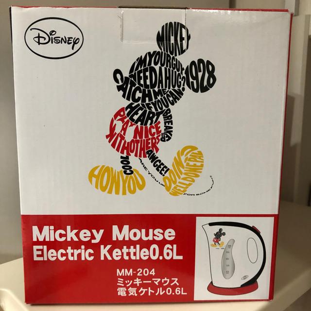 Disney(ディズニー)のMickey Mouse 電気ケトル スマホ/家電/カメラの生活家電(電気ケトル)の商品写真