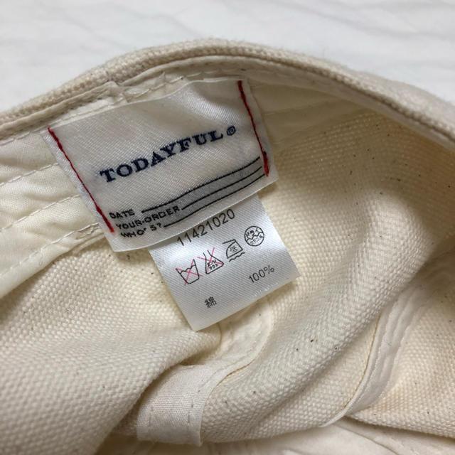 TODAYFUL(トゥデイフル)のTODAYFUL BOY cap レディースの帽子(キャップ)の商品写真