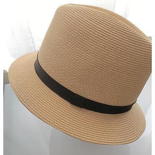 フォクシー(FOXEY)の[美品] FOXEY 麦わら帽子 ストローハット 中折れ帽(麦わら帽子/ストローハット)