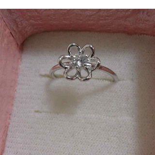 #AM♪指先に可愛いお花が一輪♪シンプルなフラワーリング♪14号(リング(指輪))