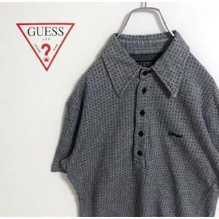 ゲス(GUESS)のゲス  イタリア製 総柄 ポロシャツ 古着 スポーツMIX(ポロシャツ)