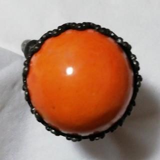 リング フリーサイズ オレンジ色(リング(指輪))