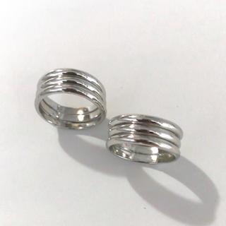 ピンキーリング2個セット(3〜4号)(リング(指輪))