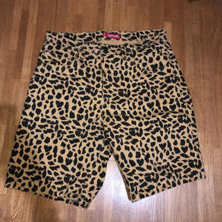 シュプリーム(Supreme)のsupreme washed denim cheetah shorts(ショートパンツ)