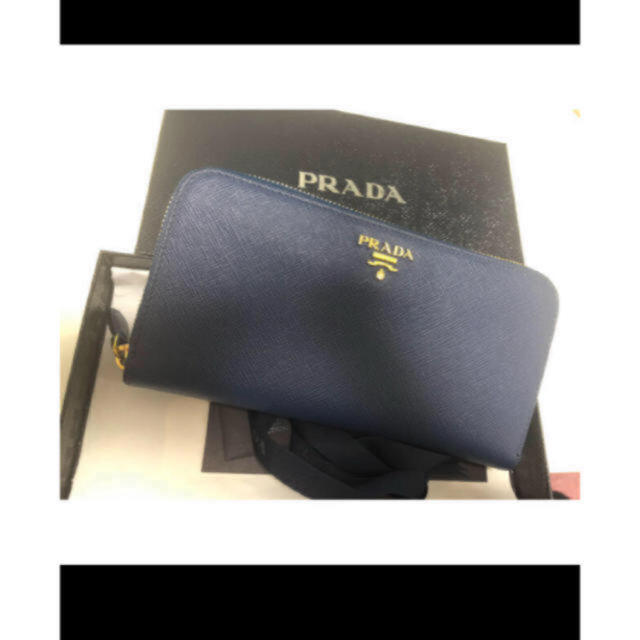 PRADA - PRADA ジッピーウォレット  長財布 ブルーの通販 by cce|プラダならラクマ