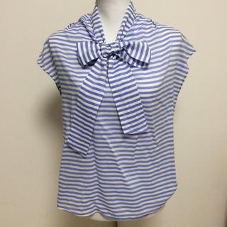 ユナイテッドアローズ(UNITED ARROWS)の鎌倉シャツ リボン襟コットンボーダーシャツ(シャツ/ブラウス(半袖/袖なし))