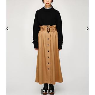 マウジー(moussy)の新品未使用 MOUSSY FRONT BUTTON ロングスカート(ロングスカート)
