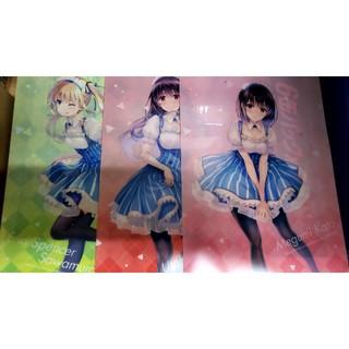 カドカワショテン(角川書店)の冴えない彼女の育て方 ローソンクリアファイル3種1組(クリアファイル)