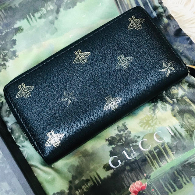 Gucci - ♡正規品♡ GUCCI ビー&スター 長財布 ブラックの通販 by CLEAR E'CLAT|グッチならラクマ