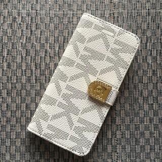 マイケルコース(Michael Kors)の箱なし 期間限定価格 iPhone7 8 ホワイト 手帳型ケース モノグラム(iPhoneケース)