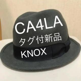 カシラ(CA4LA)の新品タグ付き KNOX CA4LA 中折れハット(ハット)
