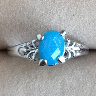 (88)ターコイズブルーのトップのファッションリング シルバー(リング(指輪))