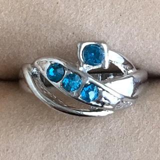 (89)ブルービジューのデザインリング シルバー ヴィンテージ(リング(指輪))