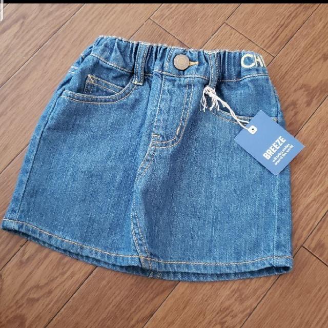 BREEZE(ブリーズ)のBREEZE デニムスカート 新品 (90) キッズ/ベビー/マタニティのキッズ服 女の子用(90cm~)(スカート)の商品写真