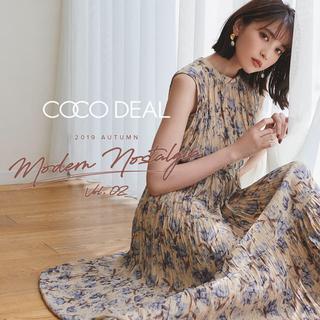 ココディール(COCO DEAL)のCOCO DEAL最新作ランダムティアードワッシャープリーツフラワーワンピース(ロングワンピース/マキシワンピース)