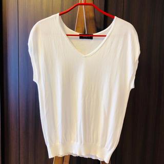 ジャスグリッティー(JUSGLITTY)のジャスグリッティー ニット トップス サイズ2 白 Tシャツ カットソー(Tシャツ(半袖/袖なし))