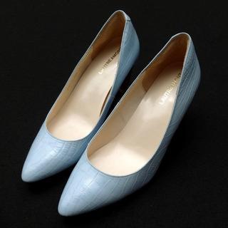 ロートレアモン(LAUTREAMONT)の美品 LAUTREAMONT ロートレアモン 型押し パンプス ヒール 36 靴(ハイヒール/パンプス)