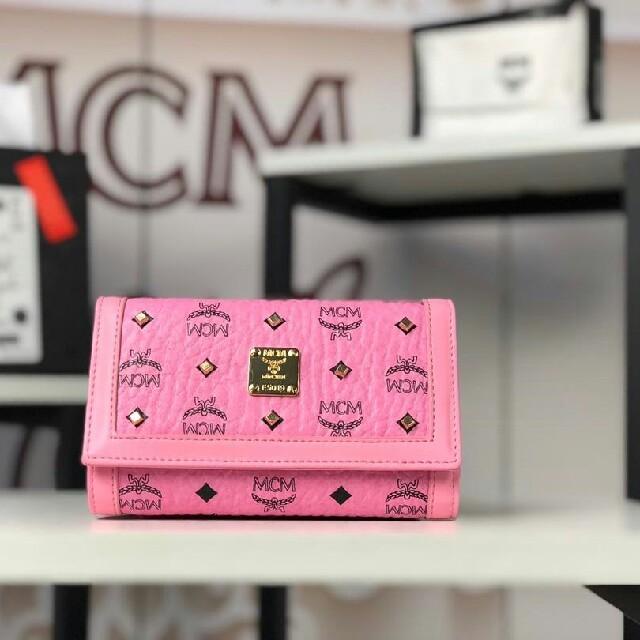 MCM - 上品な質感 mcm 財布 ピンク 送料無料の通販 by 花も花も|エムシーエムならラクマ