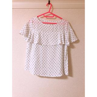 ジーユー(GU)の水玉トップス(シャツ/ブラウス(半袖/袖なし))