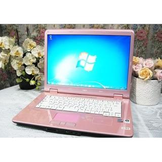 エヌイーシー(NEC)の返品保証!高速SSD!ピンクの可愛いNEC LL750/S オフィス DVD☆(ノートPC)