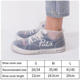 シューズカバー 防水 雨 雪 泥除け 靴カバー 滑り止め 梅雨対策 シリコン L(長靴/レインシューズ)