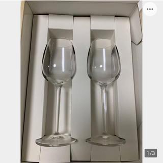 ヨンドシー(4℃)の未使用★4℃ワイングラス ペア ◆ap0(グラス/カップ)