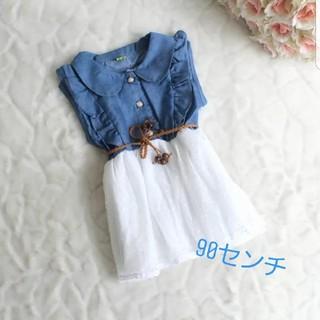 ☆夏物セール中☆ベビーワンピース☆子供服☆デニム ベビー(ワンピース)