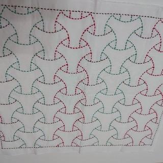 刺し子布巾二枚組 C(キッチン小物)