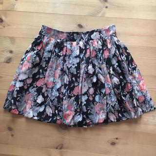 マーキュリーデュオ(MERCURYDUO)のMERCURYDUO 花柄スカート 美品 送込み(ミニスカート)