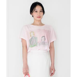 アッシュペーフランス(H.P.FRANCE)のRED Profile × 宍戸未林 コラボTシャツ(Tシャツ(半袖/袖なし))