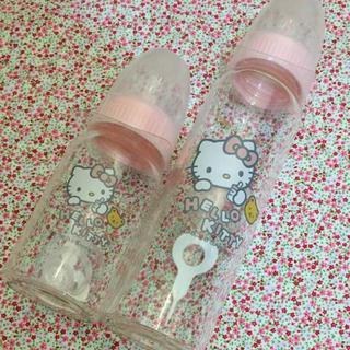 サンリオ(サンリオ)の新品 ハローキティ ガラス哺乳瓶 120ml&240ml(哺乳ビン)