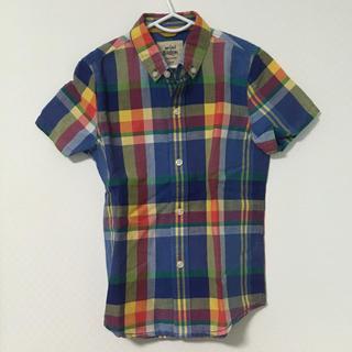ボーデン(Boden)の110 miniboden チェック半袖シャツ(Tシャツ/カットソー)