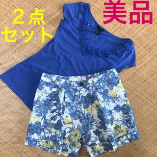 エイチアンドエム(H&M)の【美品】バックナンバー H&M カットソー ショートパンツ Tシャツ 2点セット(セット/コーデ)