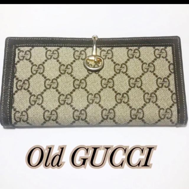 Gucci - ✩⃛ オールドグッチ 財布 二つ折り財布 グッチ GG PVC ヴィンテージの通販 by ぴよ's shop|グッチならラクマ