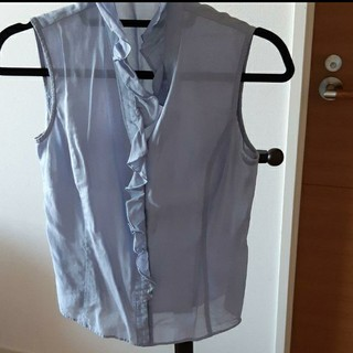 アンクライン(ANNE KLEIN)のAK アンクライン ノースリーブ シャツ(シャツ/ブラウス(半袖/袖なし))