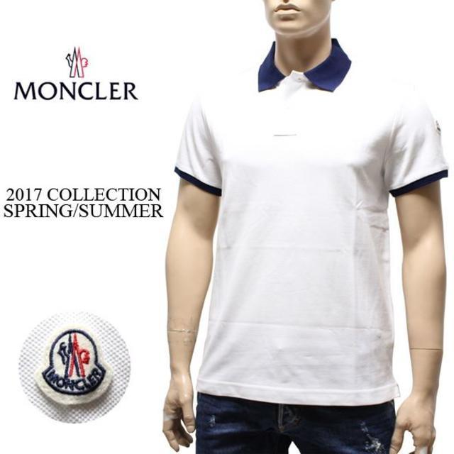 MONCLER(モンクレール)の専用 11 MONCLER 半袖 襟裏ロゴ ポロシャツ ホワイト XL メンズのトップス(ポロシャツ)の商品写真
