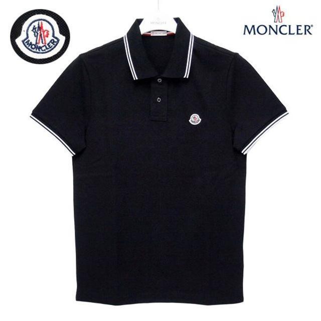 MONCLER(モンクレール)の【25】MONCLER 半袖 ポロシャツ ブラック size L メンズのトップス(ポロシャツ)の商品写真