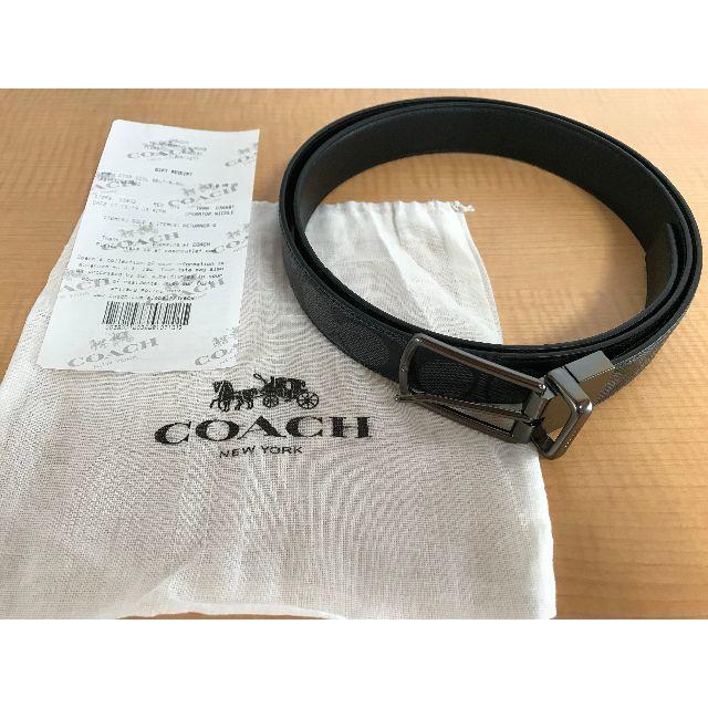 COACH(コーチ)の【新品&本物&格安】コーチ メンズベルト シグネチャー リバーシブル対応 メンズのファッション小物(ベルト)の商品写真