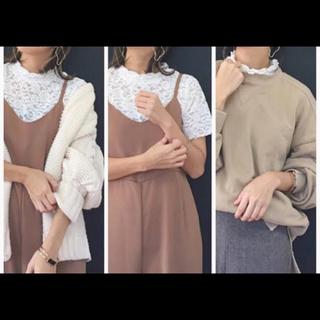 ジーユー(GU)のフリルネックシャツ(シャツ/ブラウス(半袖/袖なし))