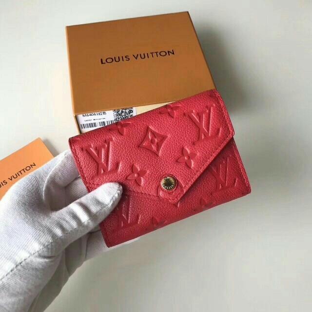 LOUIS VUITTON - ルイヴィトン ミニ ウォレット LV ロゴ 財布 レッドの通販 by 川瀬's shop|ルイヴィトンならラクマ
